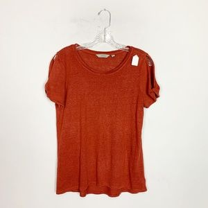 Athleta red cold shoulder short sleeve top small